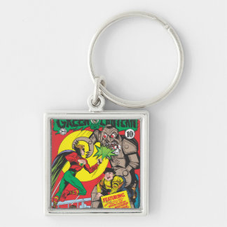 Green Lantern vs The Wizard of Odds Silver-Colored Square Key Ring