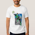 Green Lantern with City Background Tee Shirts