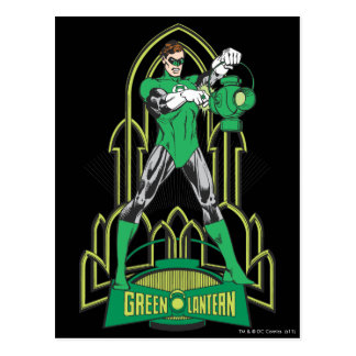 Green Lantern with Letters Postcard