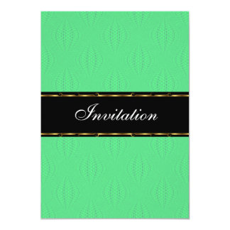Green Lanterns Gold Black Birthday Event 13 Cm X 18 Cm Invitation Card