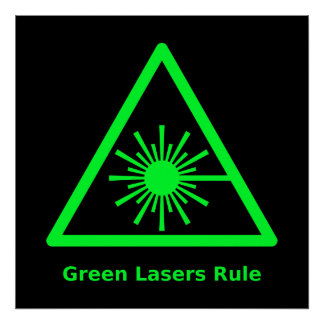 Green Lasers Rule Poster