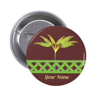 Green Lattice Name Badge