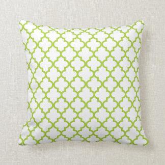 Green Lattice Pattern Pillow