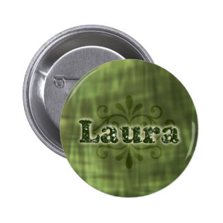 Green Laura Pinback Buttons