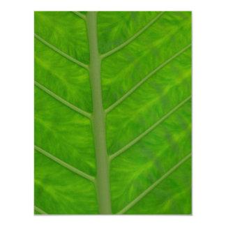 Green Leaf 11 Cm X 14 Cm Invitation Card
