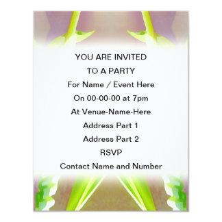 Green Leaf Abstract. 11 Cm X 14 Cm Invitation Card