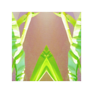 Green Leaf Abstract. Gallery Wrapped Canvas