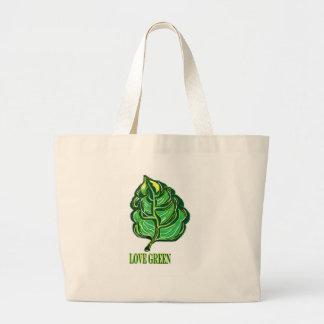 Green Leaf Tote Bags