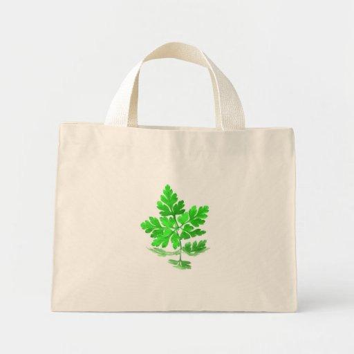 Green leaf canvas bag