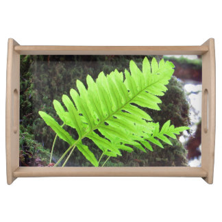 Green Leaf Bliss Serving Tray