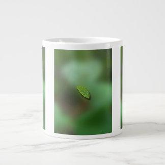 Green Leaf Blurred Background; No Greeting Jumbo Mug