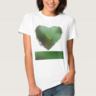 Green Leaf Blurred Background; No Greeting Shirt
