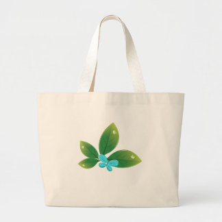 Green leaf butterfly tote bag