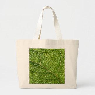 Green Leaf Digital Art Canvas Bags