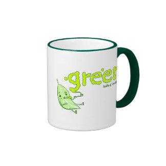 Green Leaf Doodle Art Mug