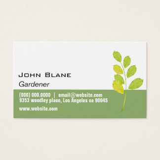 Green Leaf Gardener Business Card
