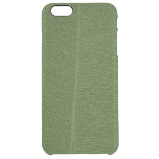 Green Leaf Grid Illustration iPhone Case