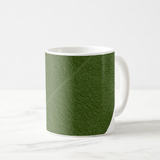 Green Leaf Grid Illustration Mug