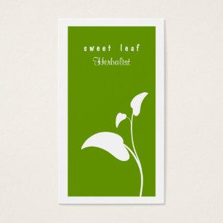 Green Leaf Herbalist  Business Card