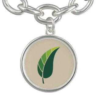 Green Leaf Icon / tan