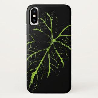 Green Leaf iPhone X Case