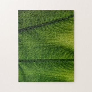 Green Leaf Jigsaw Puzzle