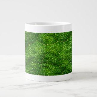 Green Leaf Macro Jumbo Mug