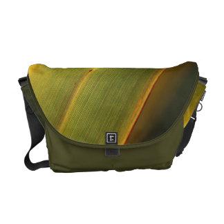 Green Leaf - Medium Messenger Bag Outside Print