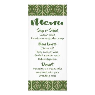 Green Leaf Menu Boho Wedding Party Leaves