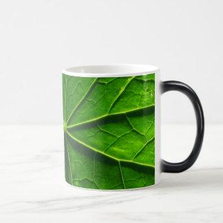 Green Leaf Morphing Mug