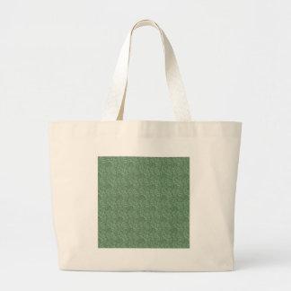 Green Leaf Motif Tote Bag