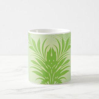 Green Leaf Classic White Coffee Mug