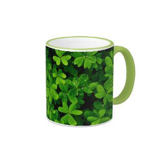 Green Leaf Coffee Mugs