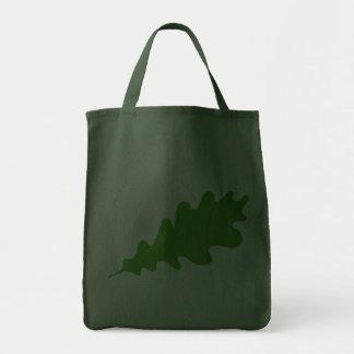 Green Leaf Oak Tree leaf Design Canvas Bags