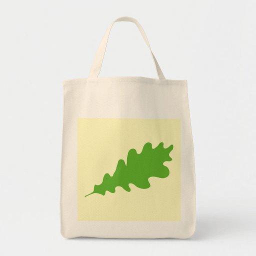 Green Leaf, Oak Tree leaf Design. Tote Bag