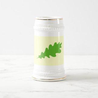 Green Leaf, Oak Tree leaf Design. Beer Steins