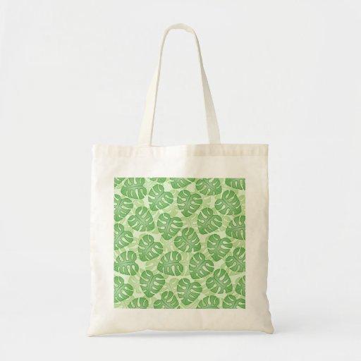 Green Leaf Pattern. Tote Bag