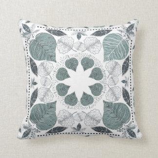 Green Leaf Pattern Designer Pilow Cushion