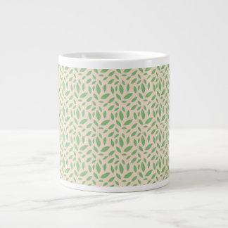 Green Leaf Pattern Jumbo Mug