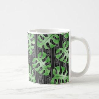 Green Leaf Pattern Coffee Mug