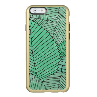 Green Leaf Pattern with Gold Tinge Incipio Feather® Shine iPhone 6 Case