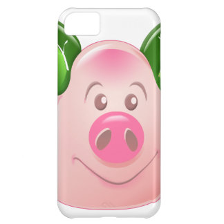 Green Leaf Pig Cover For iPhone 5C