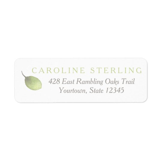Green Leaf Simplicity Return Address Labels