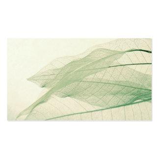 green leaf skeletons business card