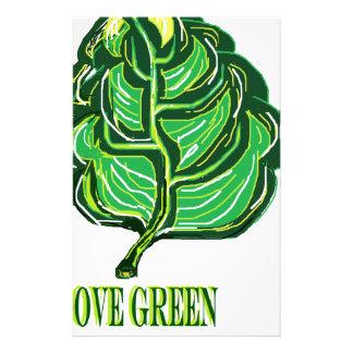 Green Leaf Customized Stationery