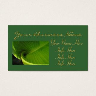 Green Leaf Swirl Business Card