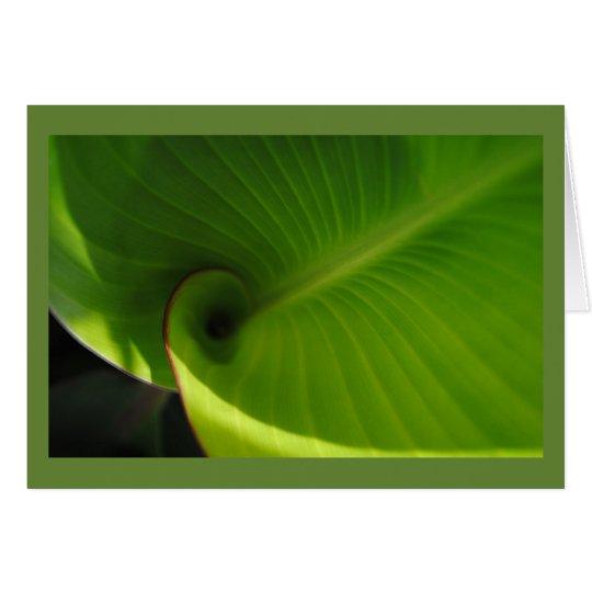 Green Leaf Swirl Card