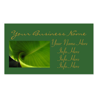 Green Leaf Swirl Pack Of Standard Business Cards