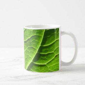 Green leaf texture mug