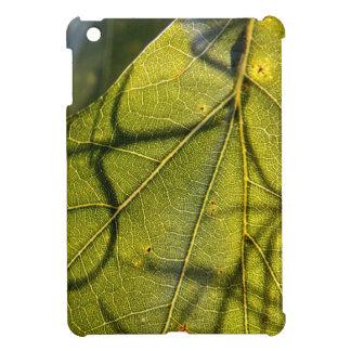 green leaf with Spanish moss tendrils in silhouett iPad Mini Covers